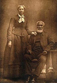 Josiah and Nancy Henson. Founders of Dawn settlement, Canada West, a community for those who escaped slavery in the United States. (near Dresden, Ontario).