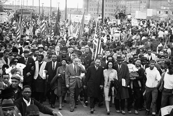 Civil Rights march. Selma to Montgomery, Alabama. March 1965.