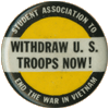 Vietnam War protest button